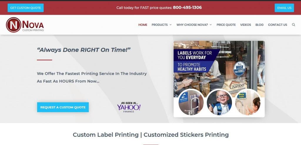 custom label printing company in New York City