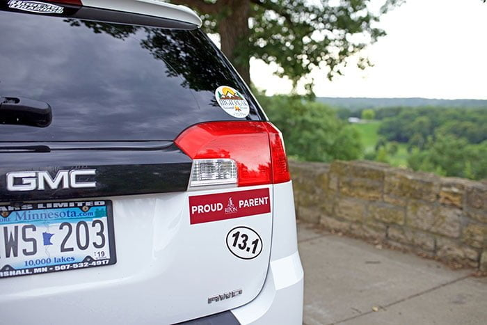 Bumper sticker printing