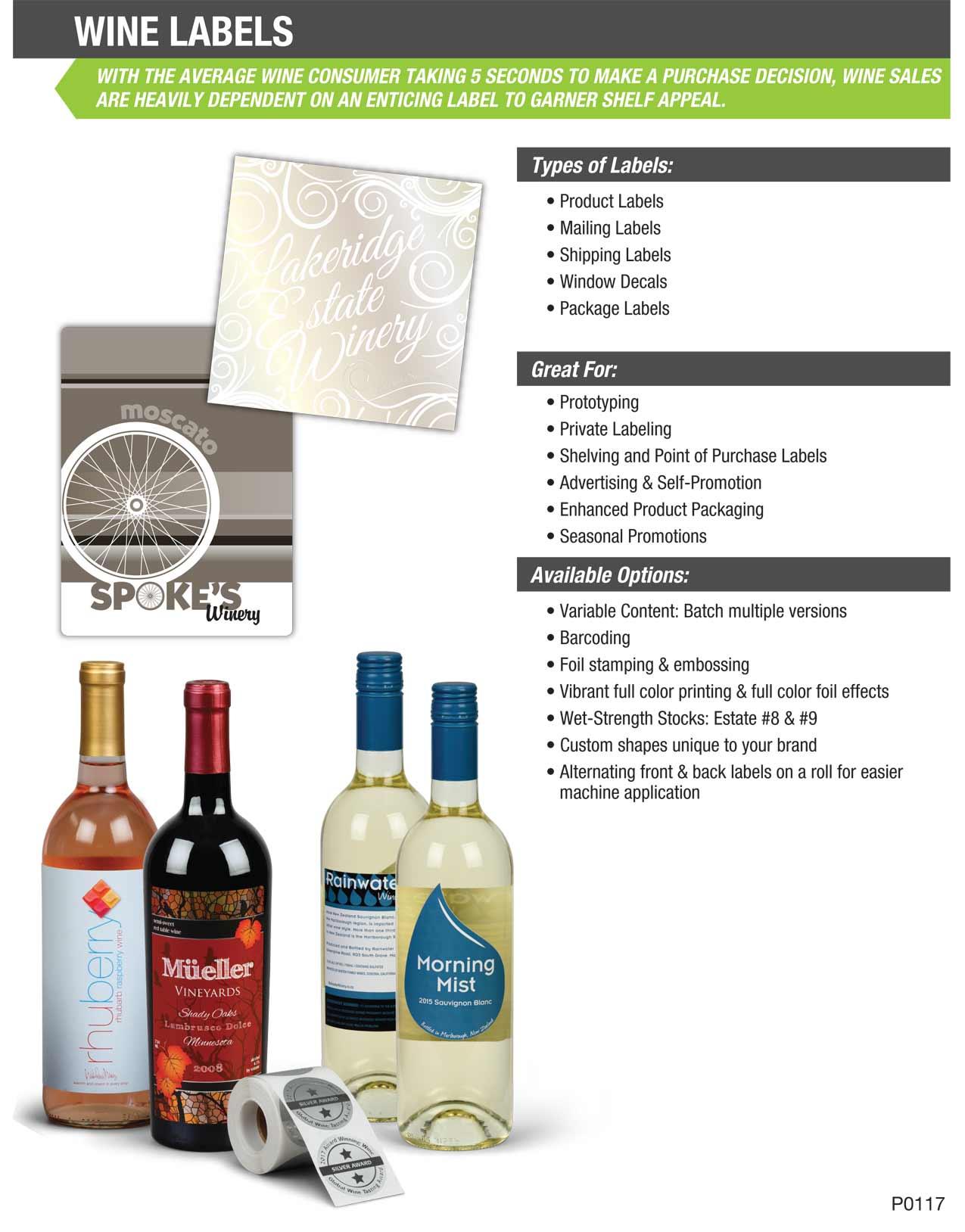 custom wine labels