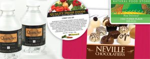 food and beverage label printing